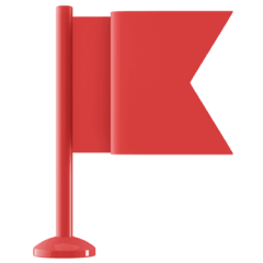 Icon of a red flag.