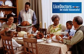 Families and Holidays -- Why We See Jump in Incidence of Head Lice After Thanksgiving and Christmas
