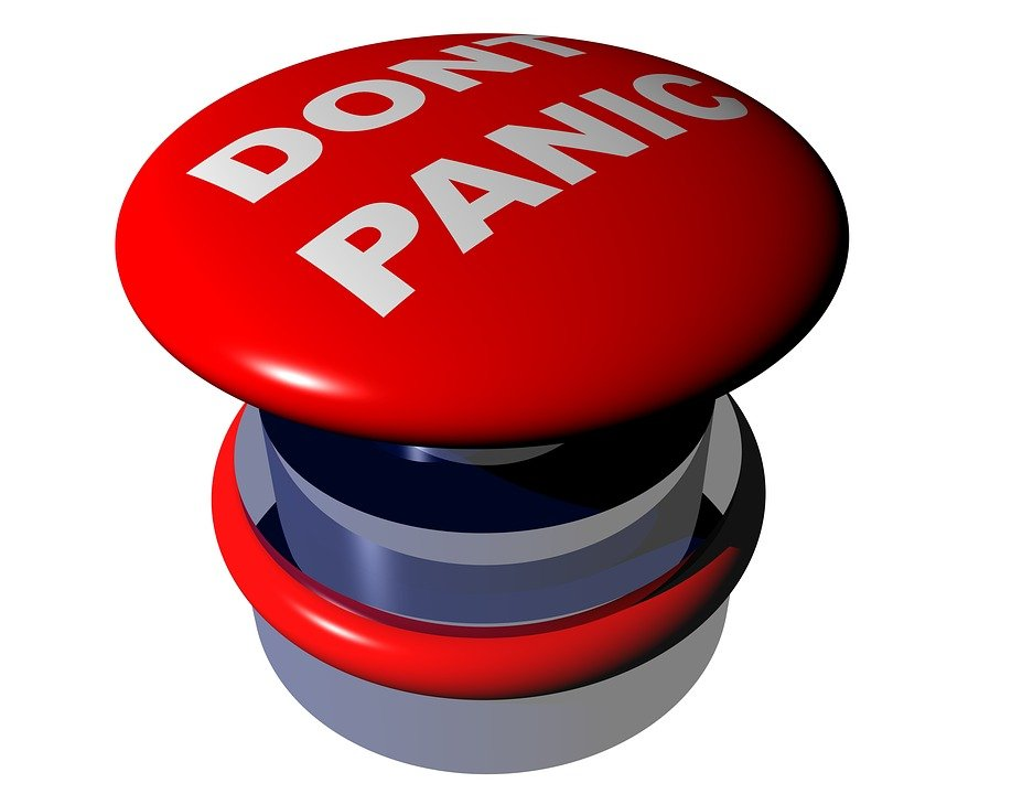 big red don't panic button