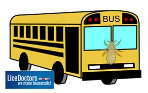 Cartoon school bus - LiceDoctors