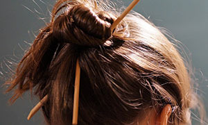 lice treatment-hair-bun-precaution