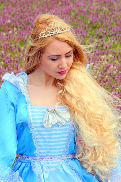 princess with long golden hair