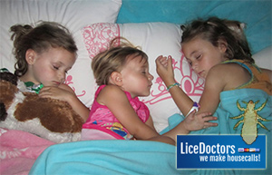 Cousins sleeping - Lice Doctors