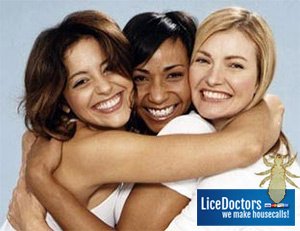 Woman friends hugging - LiceDoctors