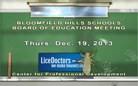 Bloomfield Hills Lice Policy