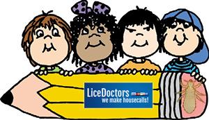 Cartoon huge pencil - LiceDoctors
