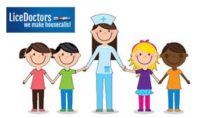 Cartoon Nurse with Children