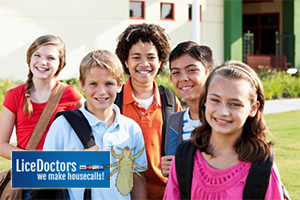 Smiling Group of Kids - LiceDoctors