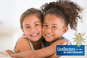 Girlfriends hugging - LiceDoctors
