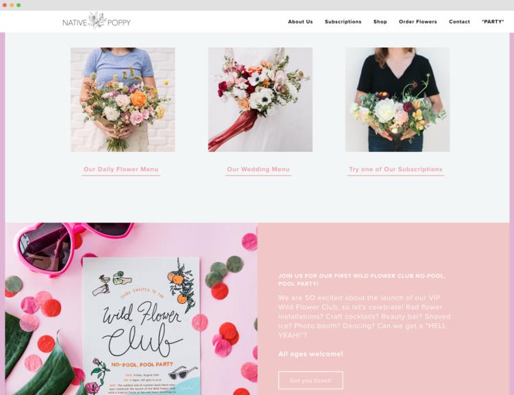 Native Poppy Site Design