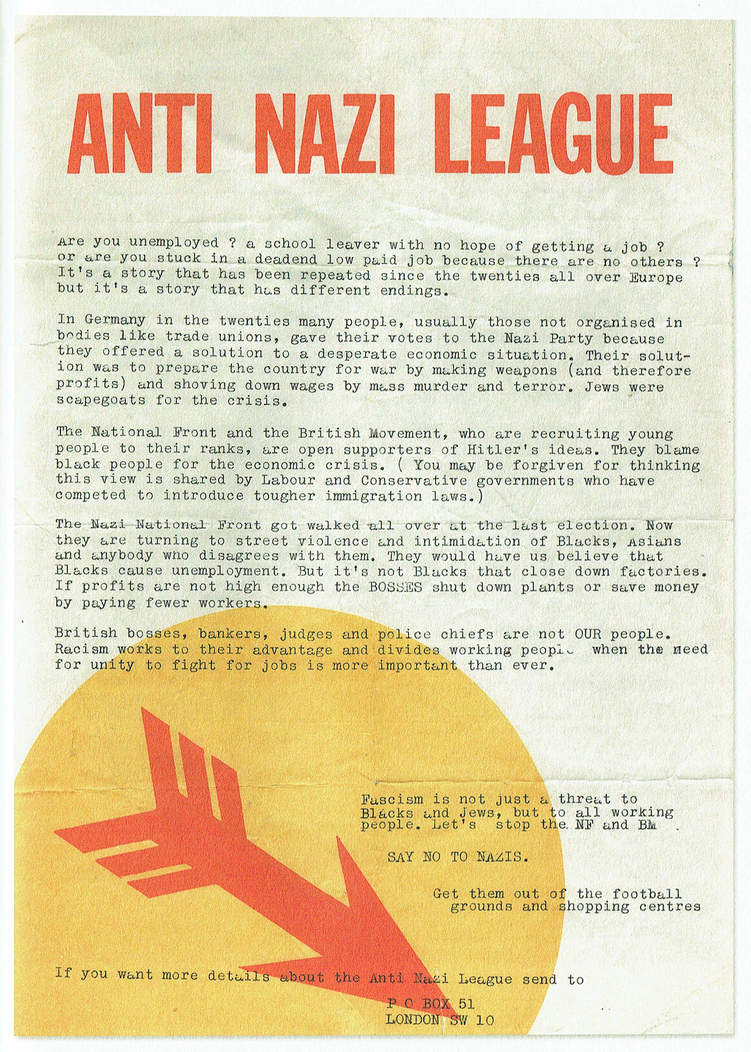 Anti-Nazi League, 1970s
