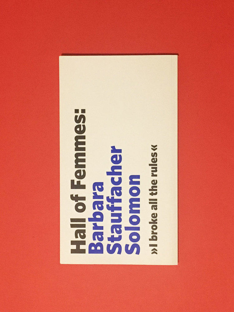 Hall of Femmes: Barbara Stauffacher Solomon