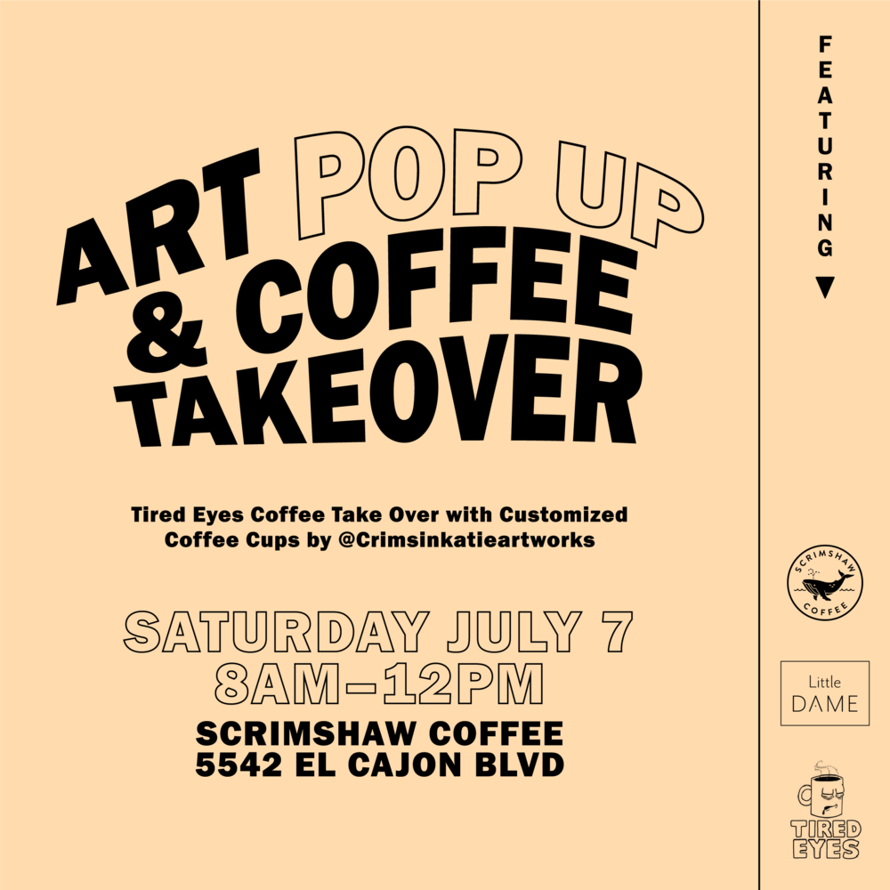 Flyer for Art Pop Up & Coffee Takeover
