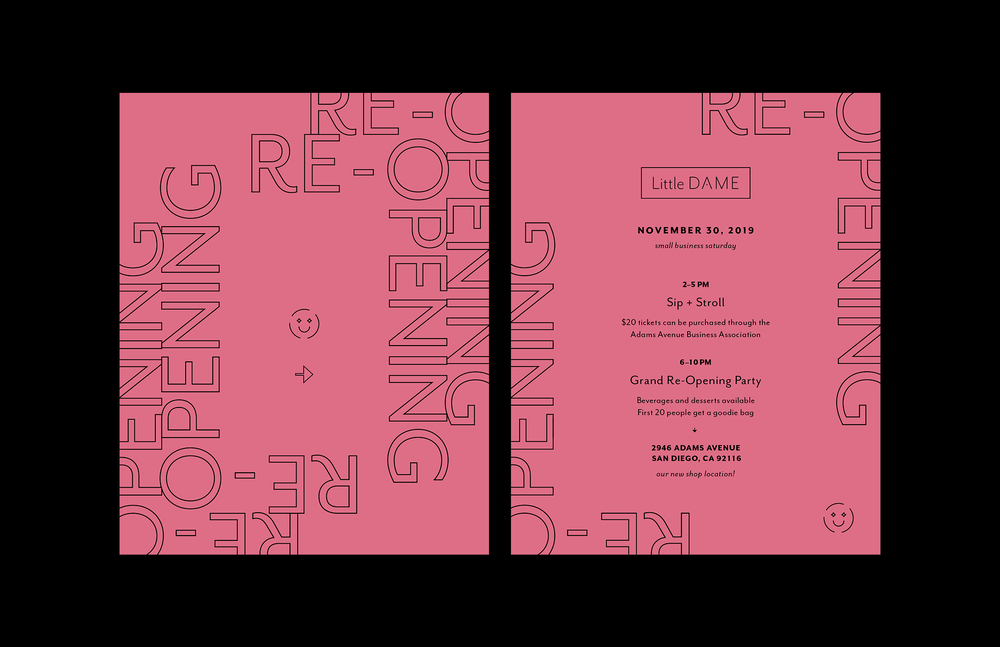 Little Dame Re-Opening Invite, 2019