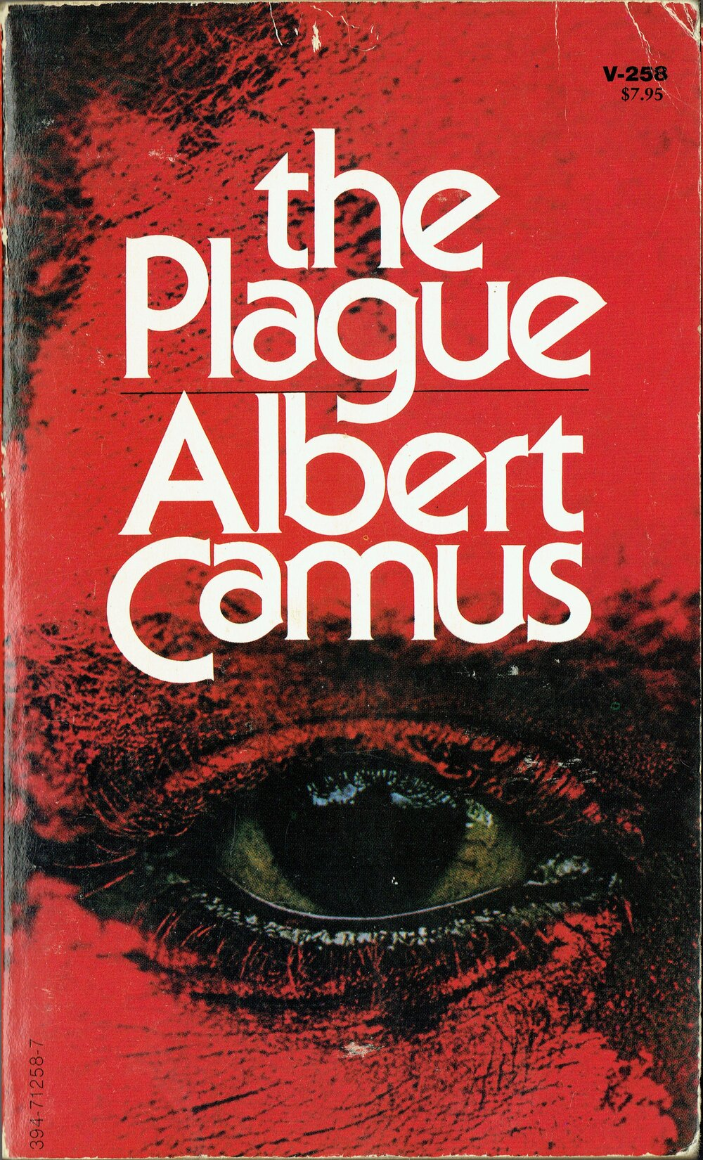 The Plague by Albert Camus, 70s Book Cover