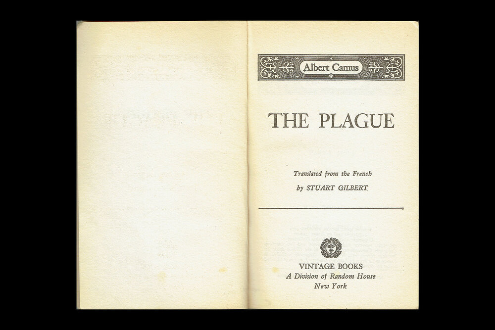 Book Design: Title Page of  The Plague by Albert Camus