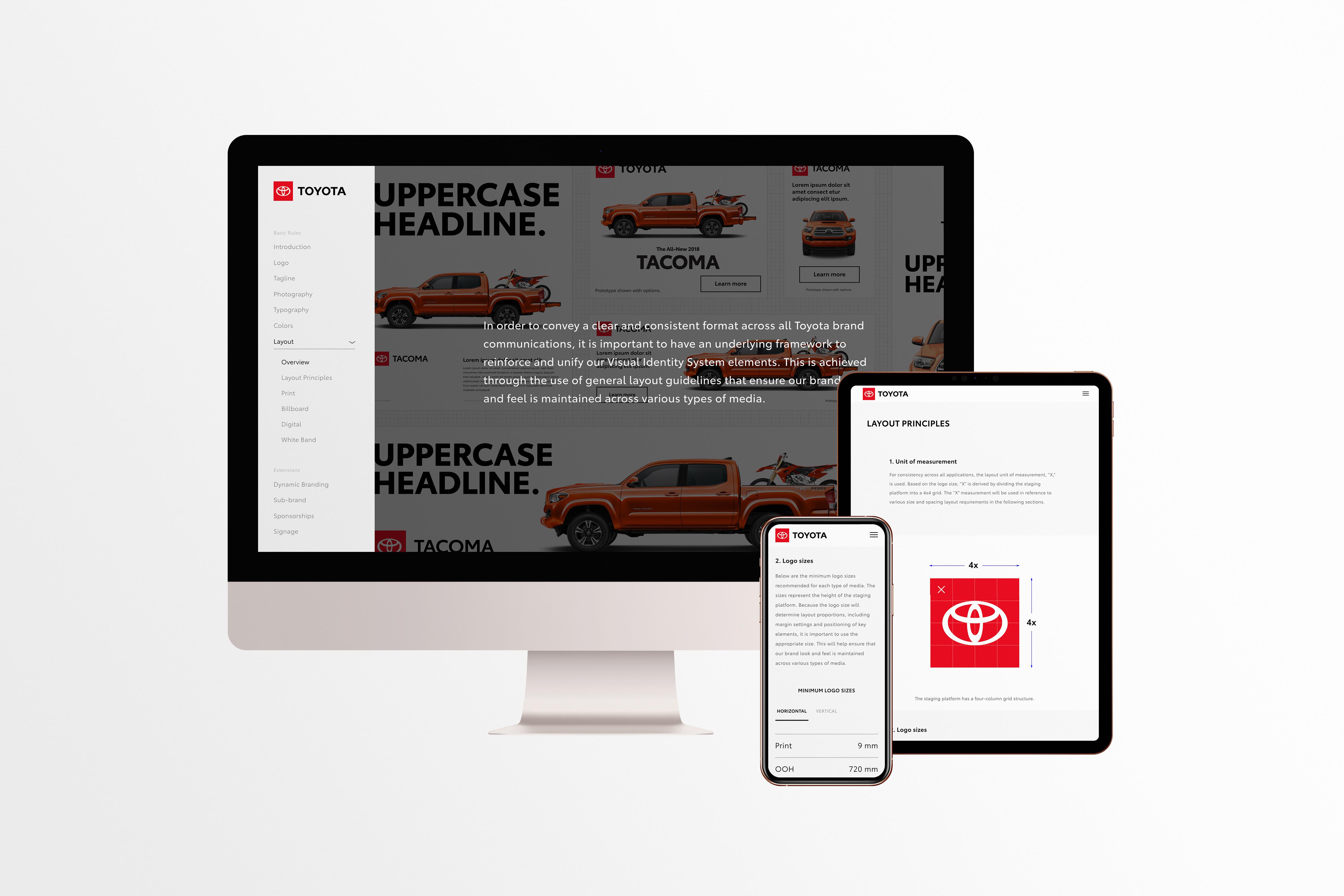 Mockup of Toyota VIS on desktop, mobile, and tablet