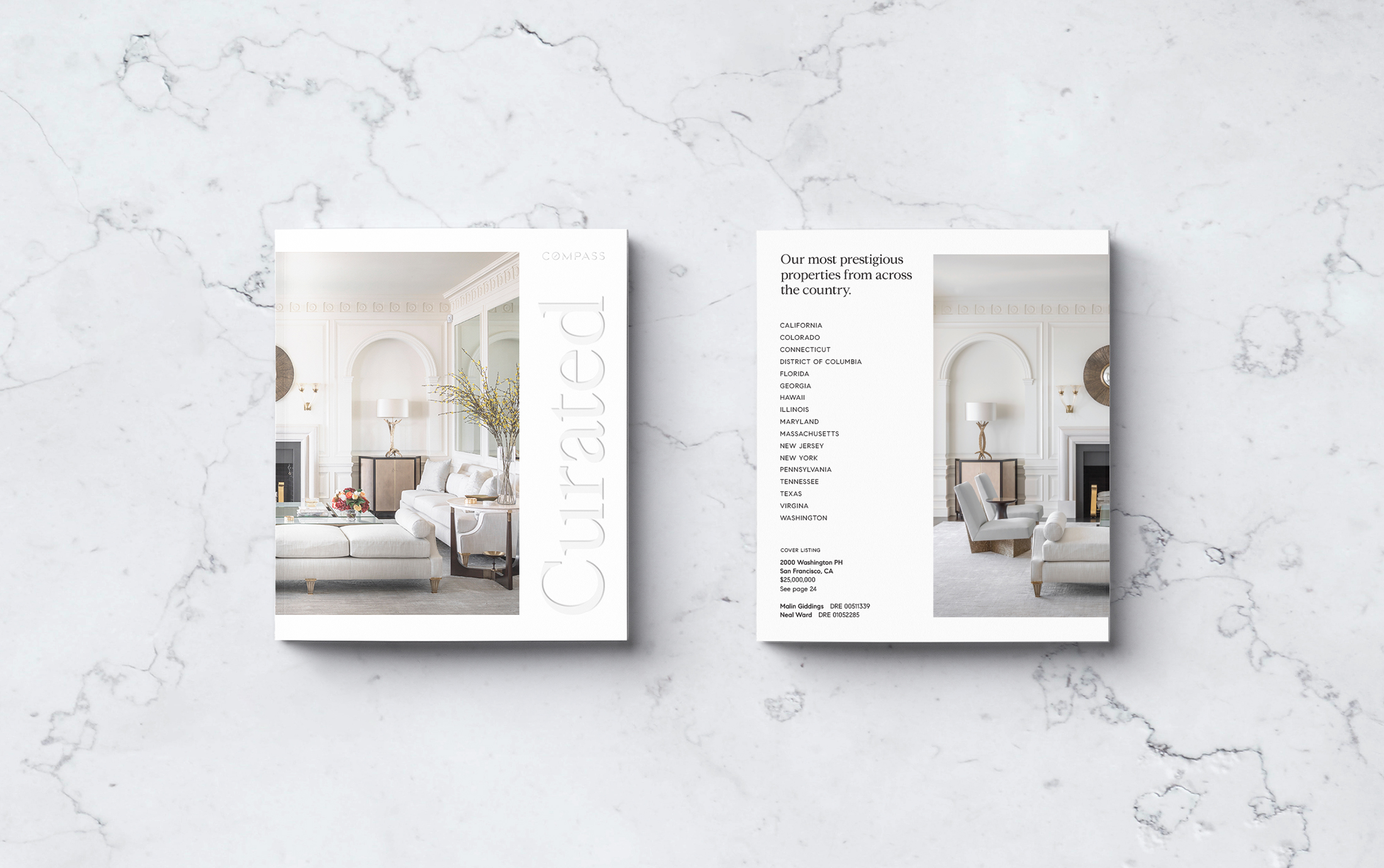 Curated Magazine, Front and Back Cover