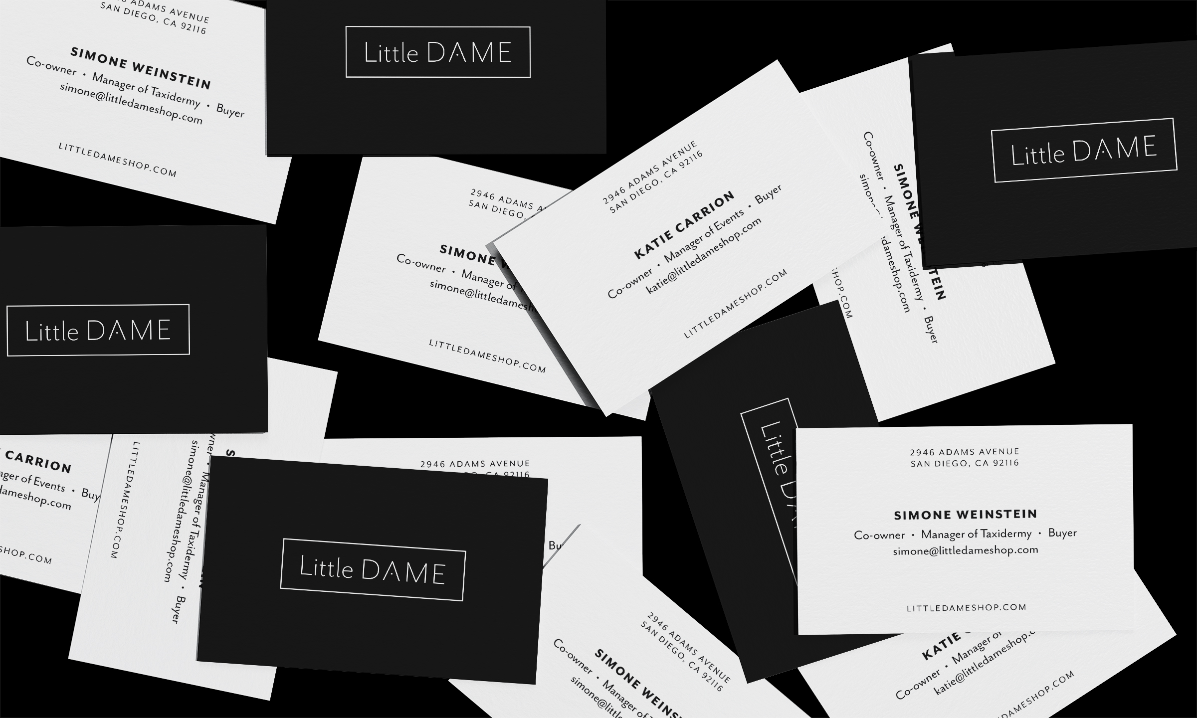 Business Cards for the Owners of Little Dame
