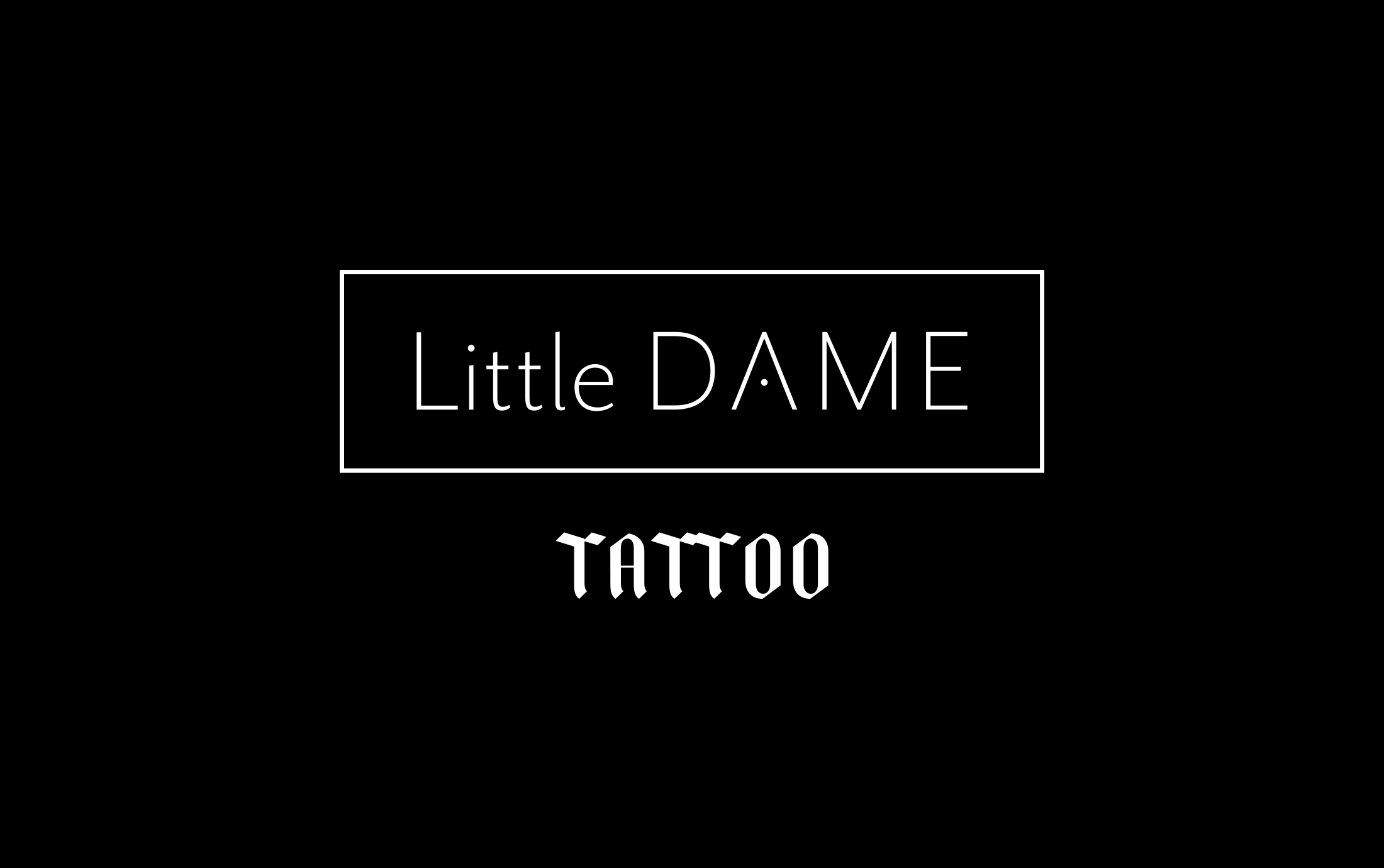 Logo for the New Tattoo Side of the Business—Little Dame Tattoo