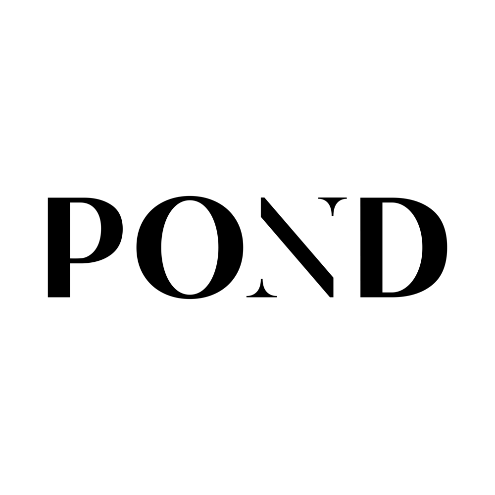 Compass Monogram, POND in Sans Serif, Using a Serif N