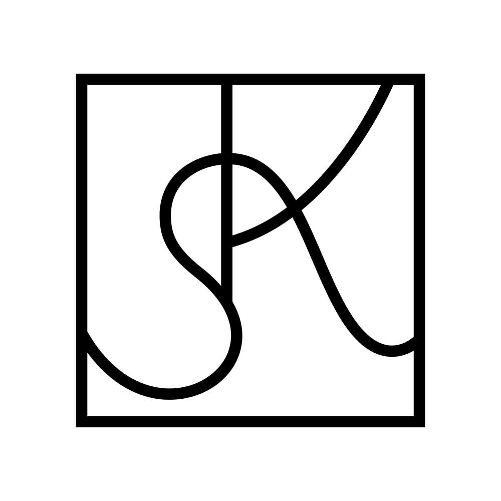 Compass Monogram, Abstract KS in a Square