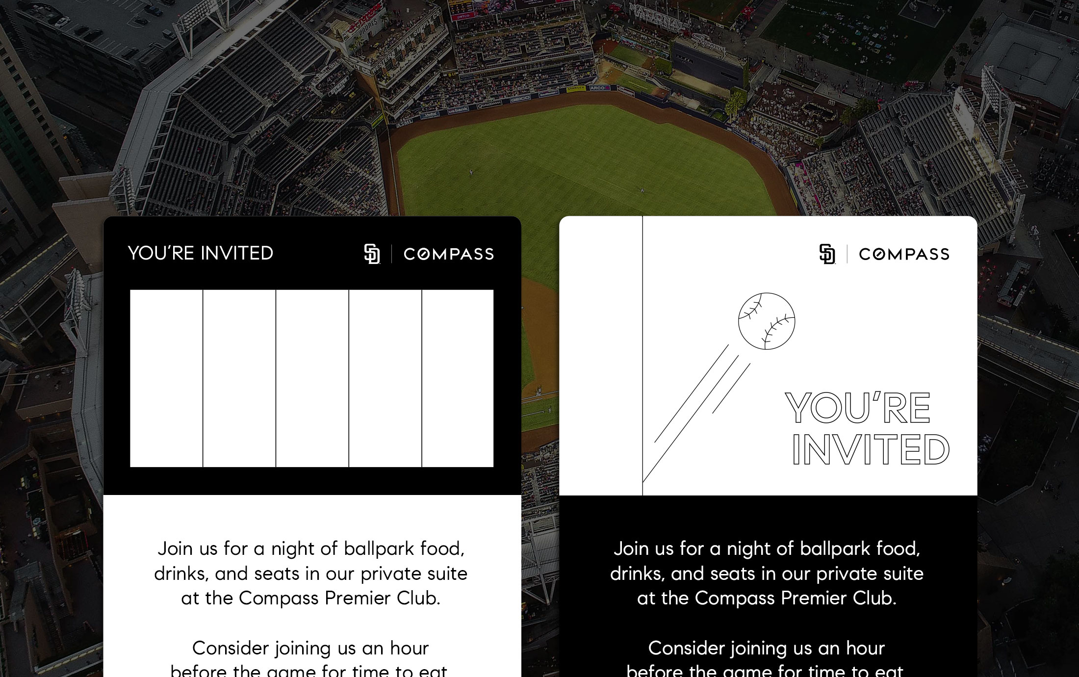 Compass Premier Club Email Invite Headers