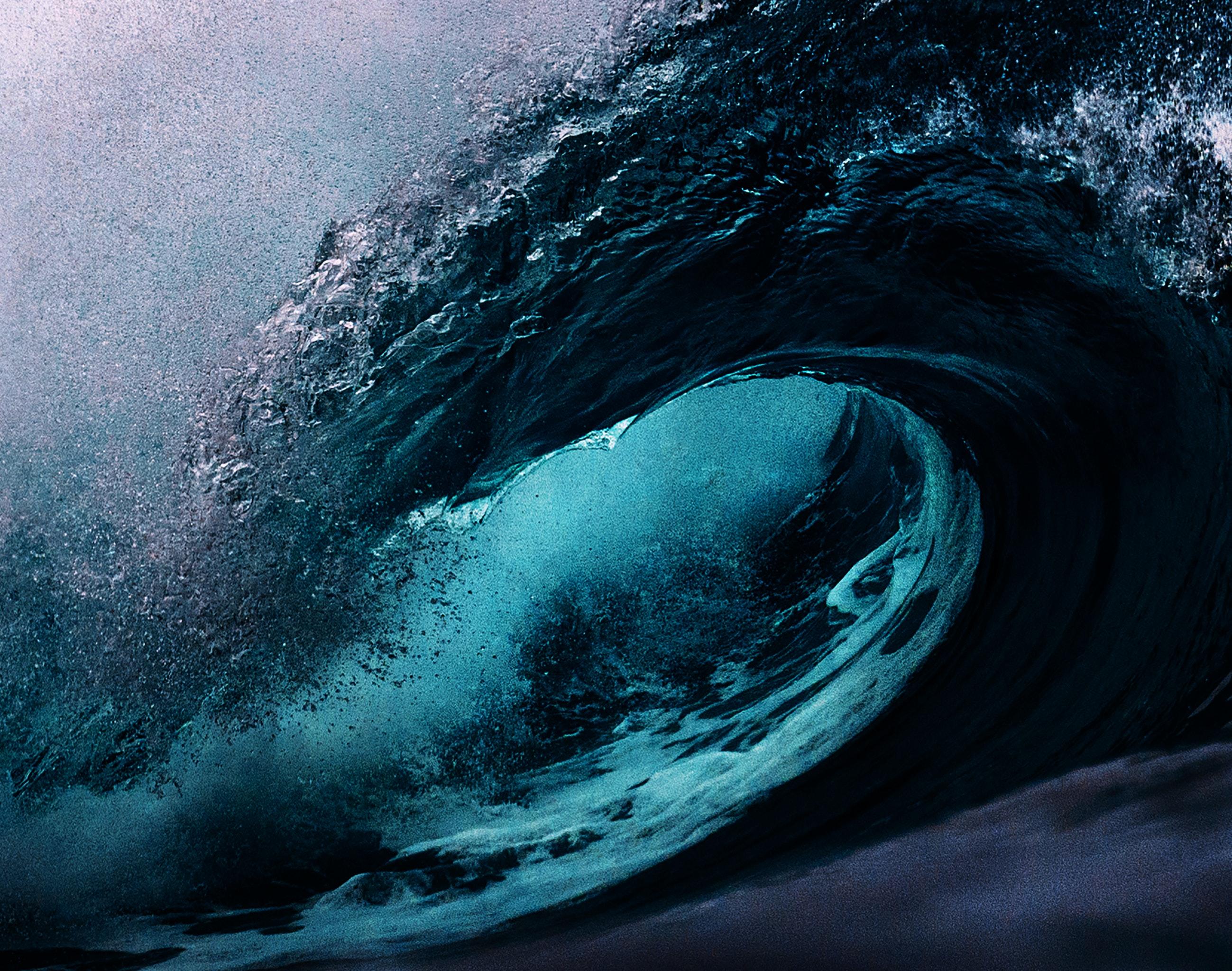 A photograph of an ocean wave