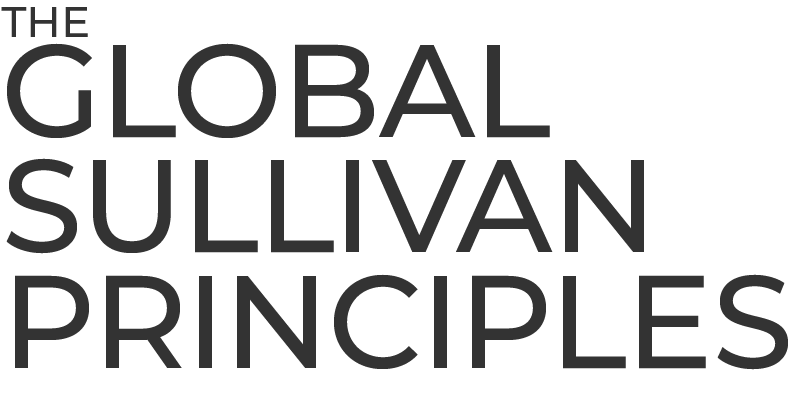 Official The Global Sullivan Principles Logo for Certification