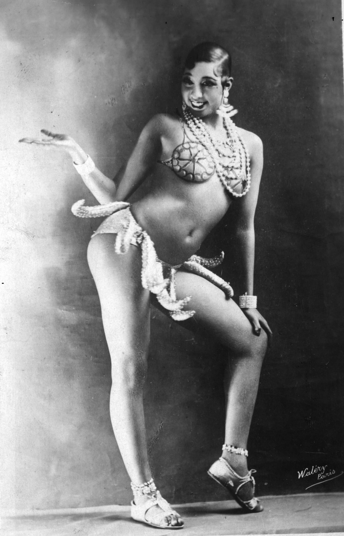 Josephine Baker in a banana skirt from the Folies Bergère production Un Vent de Folie, 1927