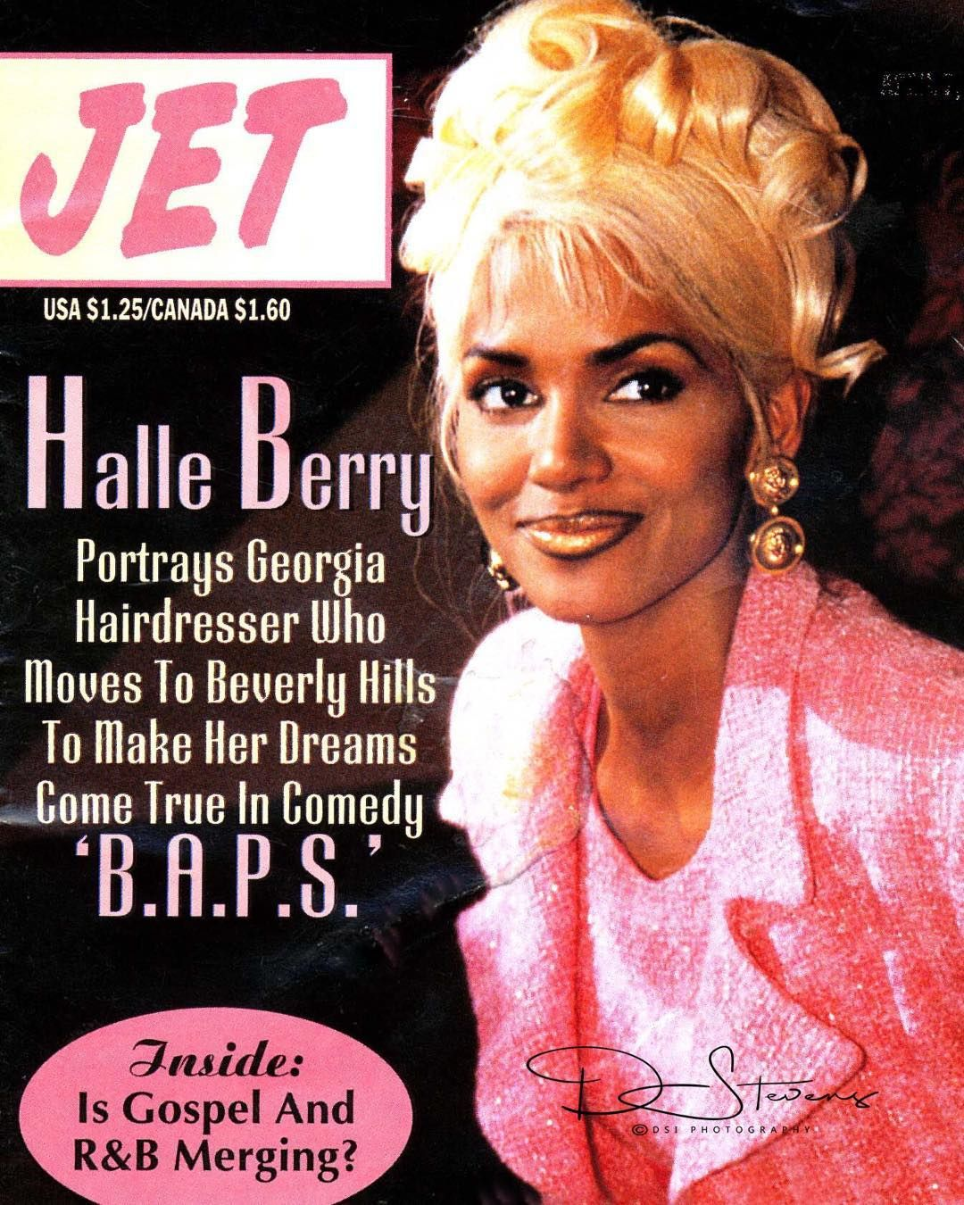 Halle Berry on the cover of Jet Magazine
