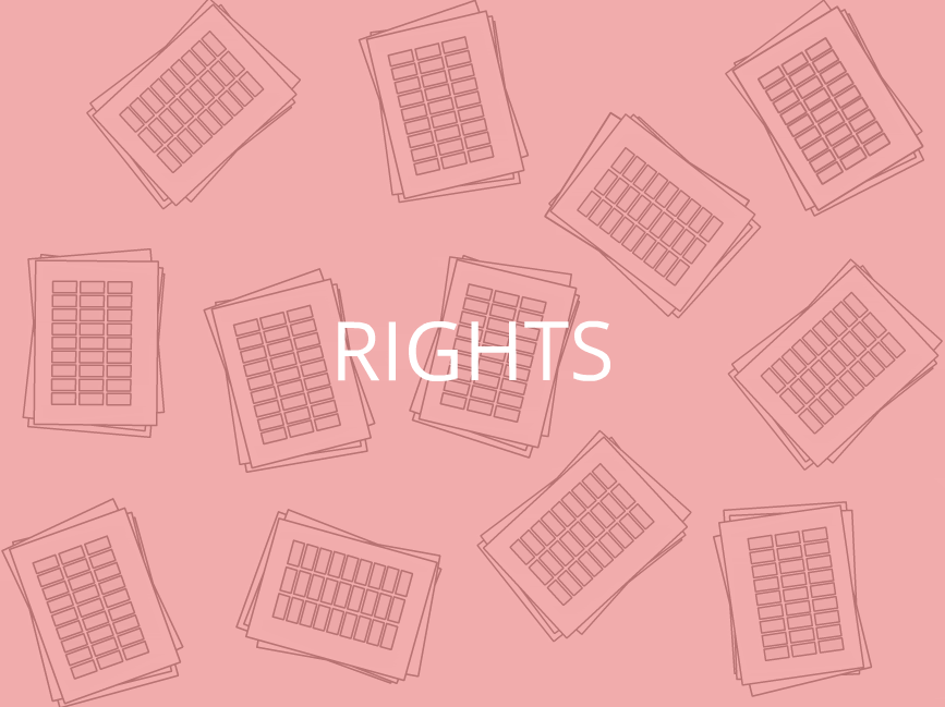 """""""rights"""" with illustration of spreadsheets"""