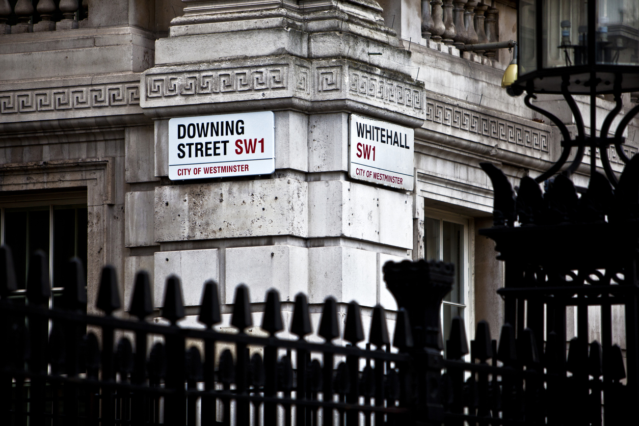 Corner of Downing Street and Whitehall