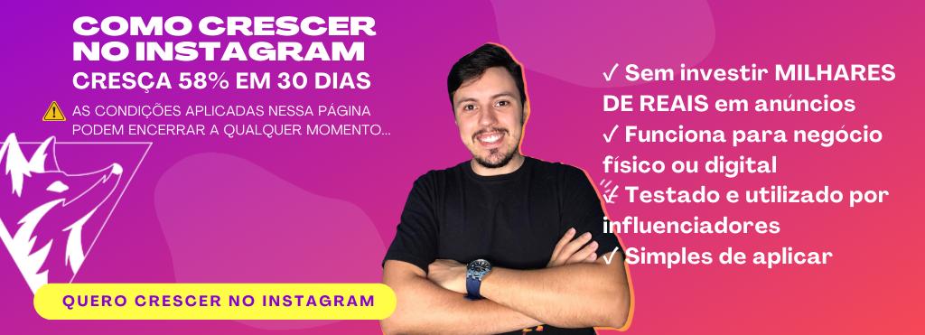 Banner com Gustavo Alonge curso como crescer no Instagram