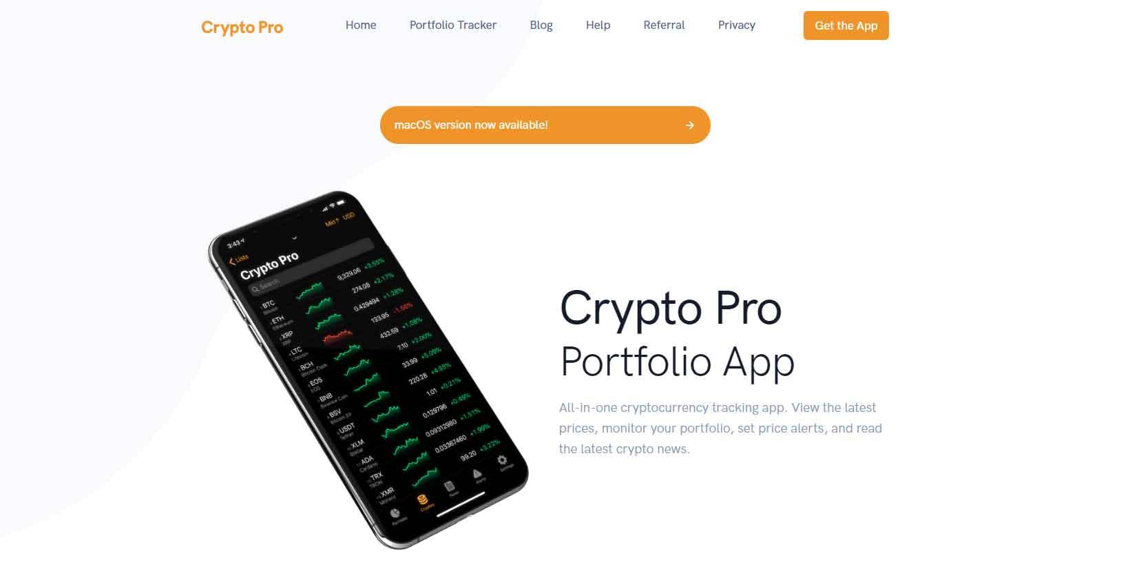 CryptoPro crypto portfolio tracker