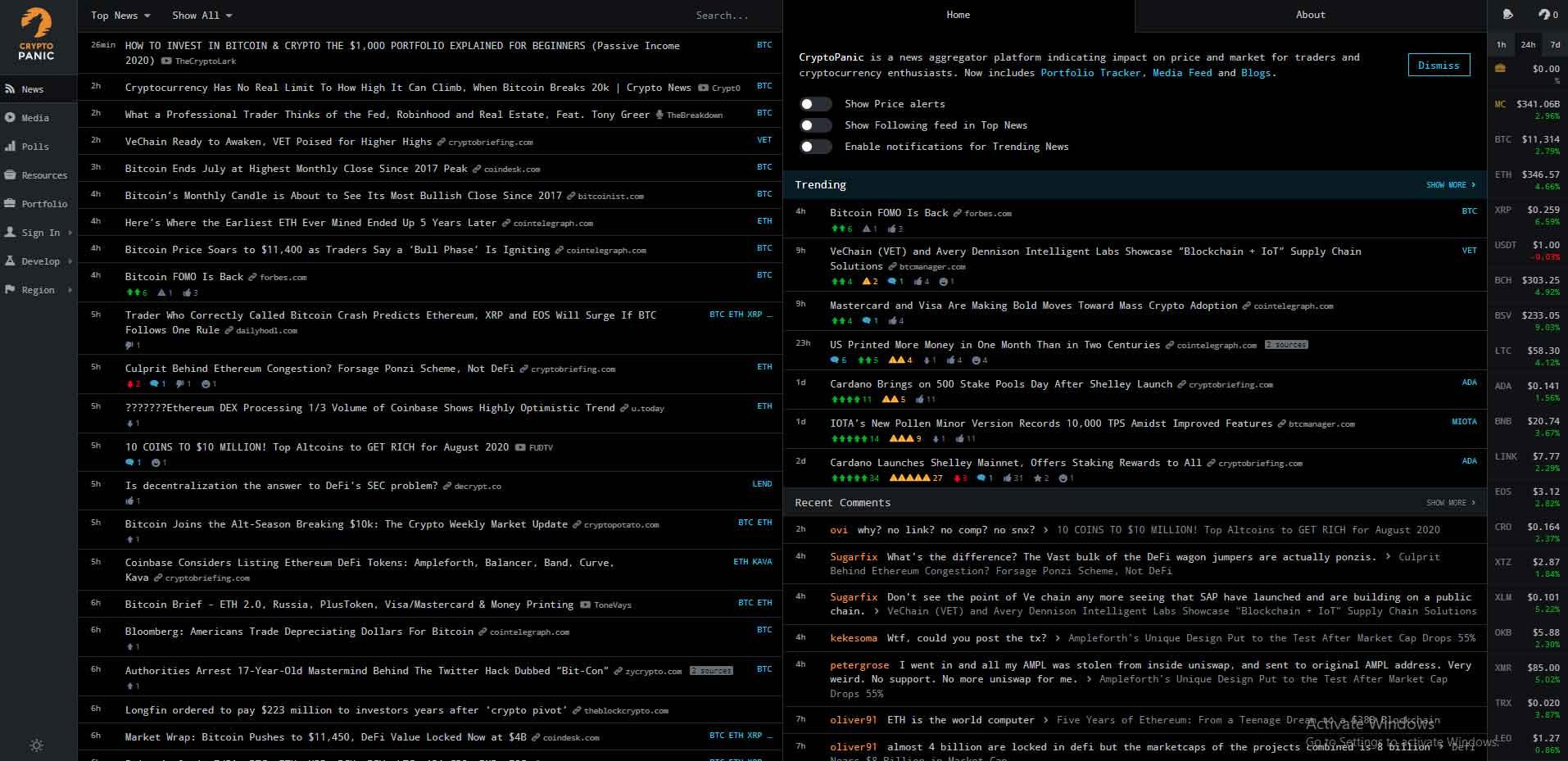 free crypto portfolio monitor