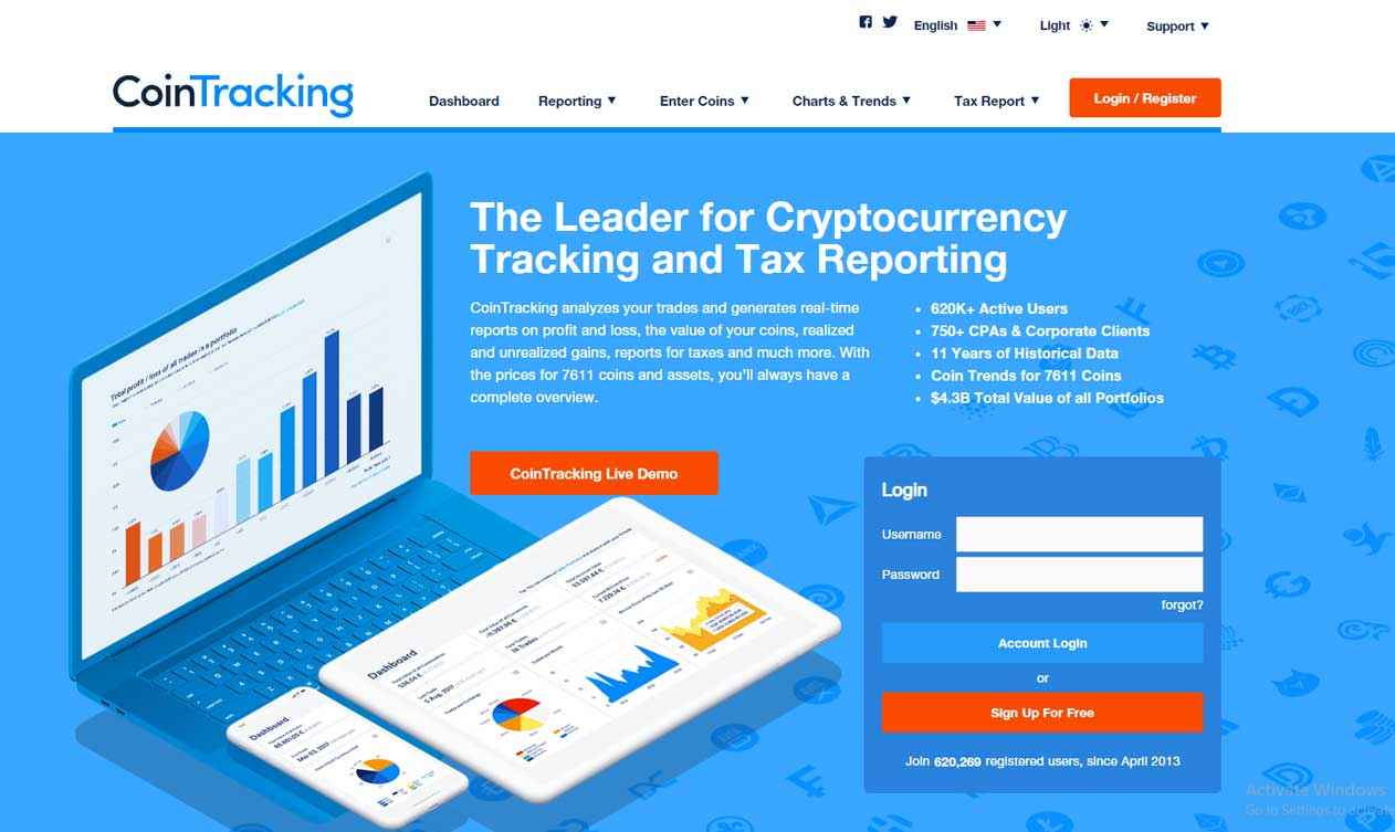 CoinTracking cryptocurrency tax reporting