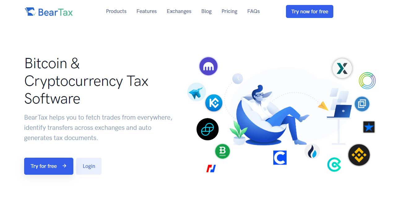 BearTax Bitcoin and Cryptocurrency Tax Software