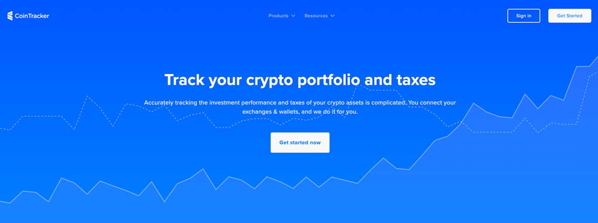 CoinTracker crypto portfolio and taxes