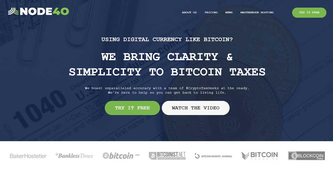 Node40 Bitcoin Tax Software