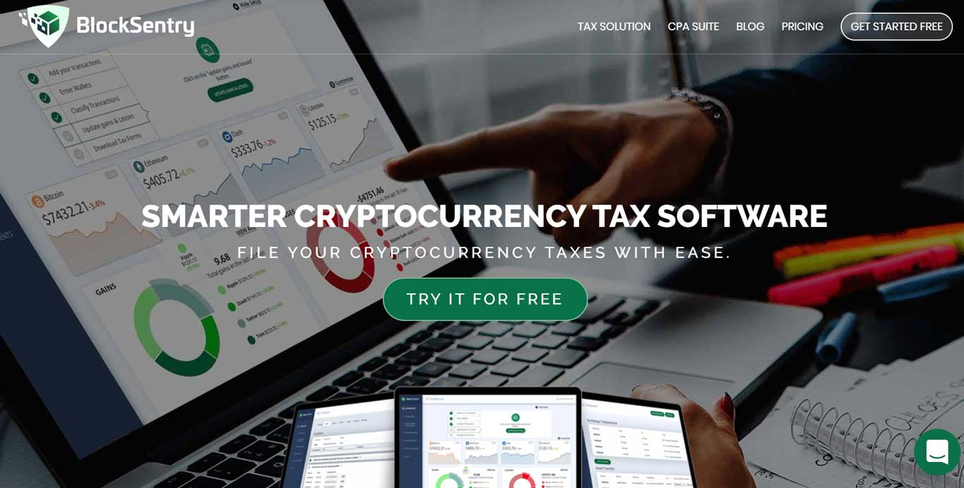 BlockSentry Smarter Cryptocurrency Tax Software