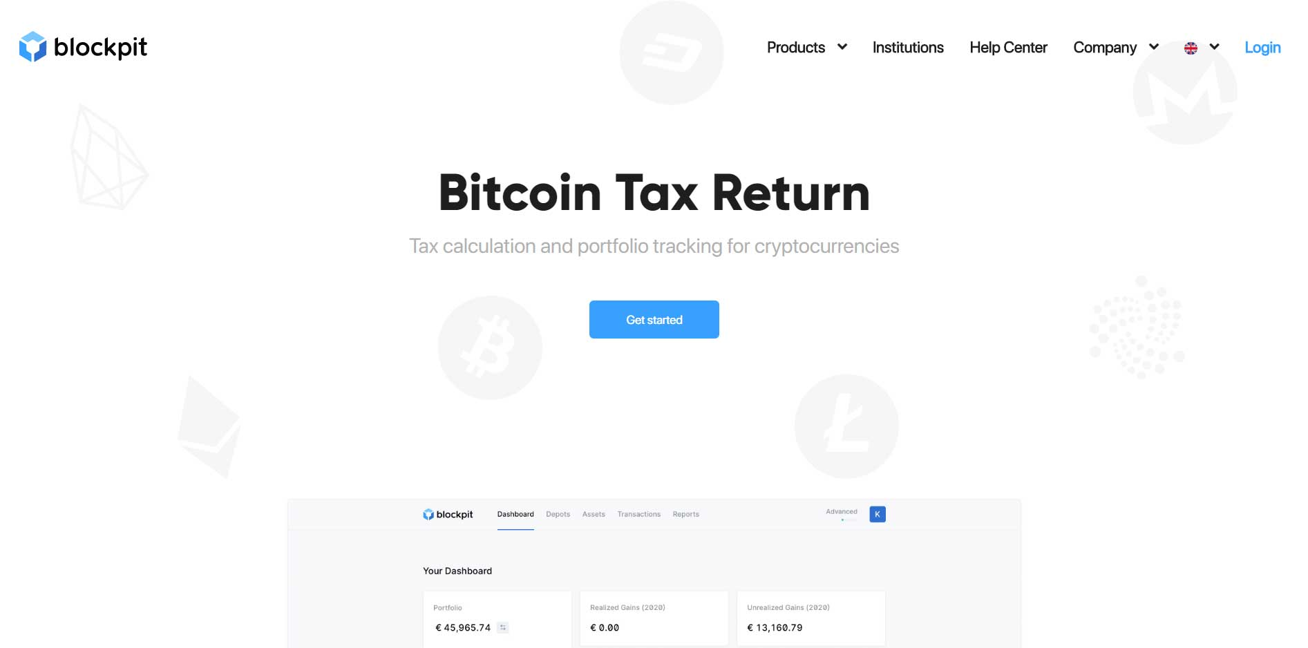Blockpit is a bitcoin crypto tax software