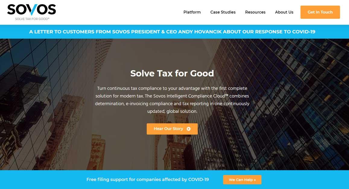 Sovos solve tax for good