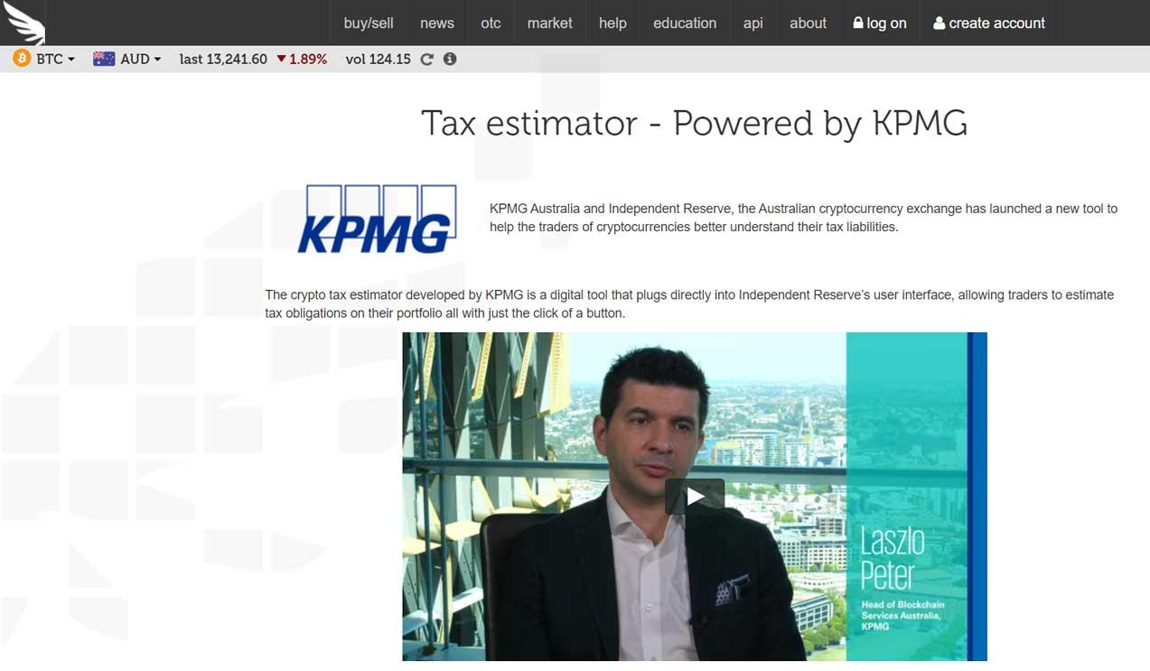 kpmg crypto tax estimator