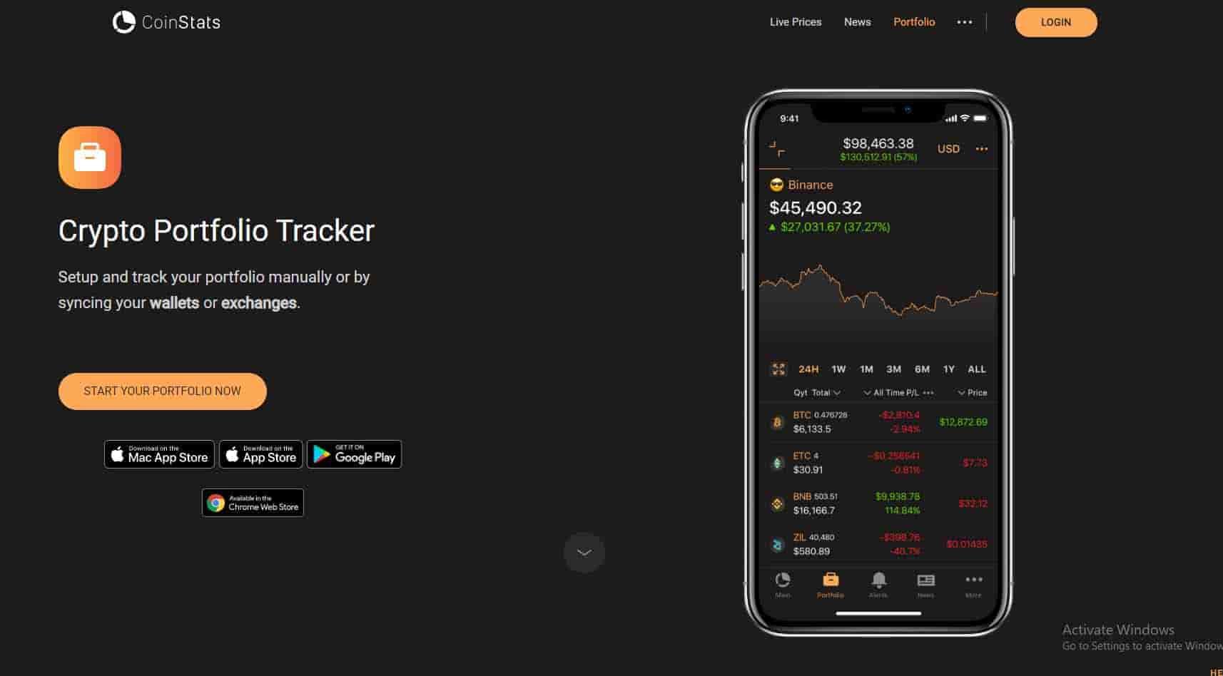 CoinStats crypto tracker