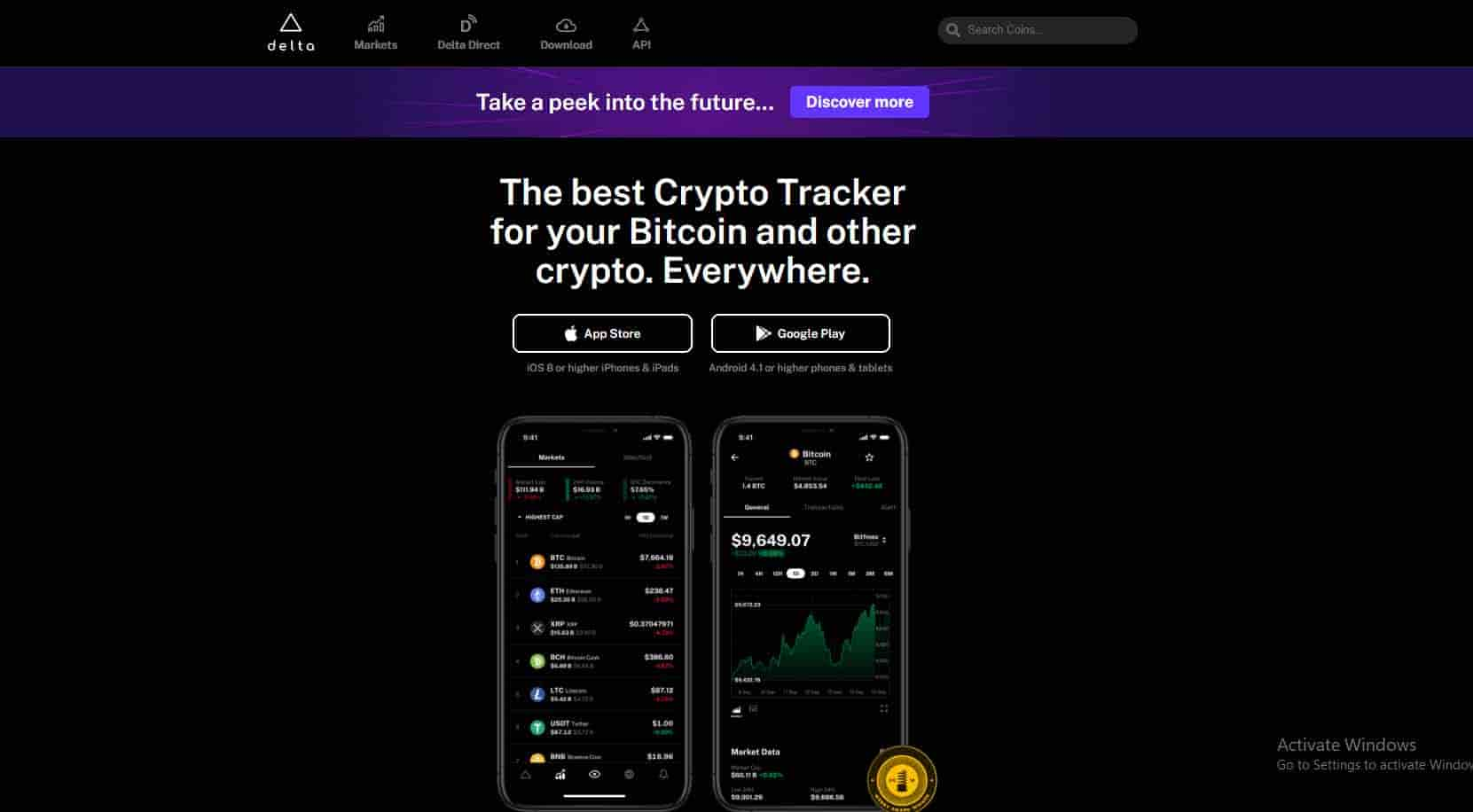 Delta Best Crypto Tracker