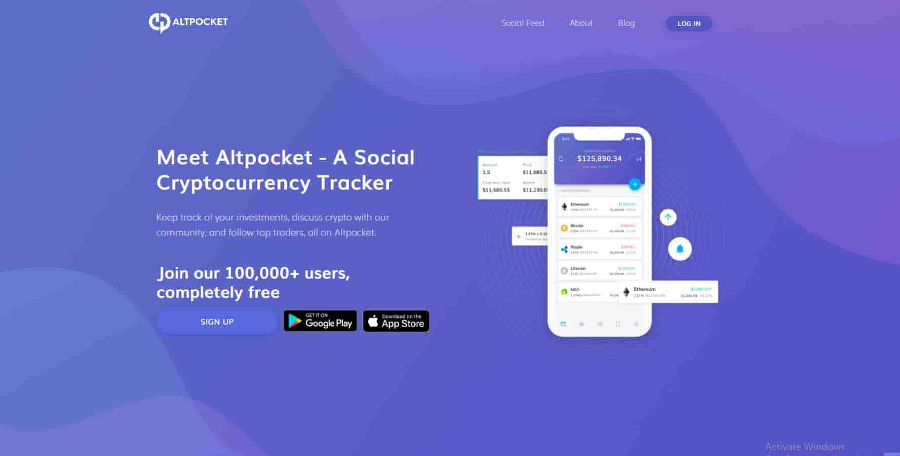 Altpocket cryptocurrency tracker