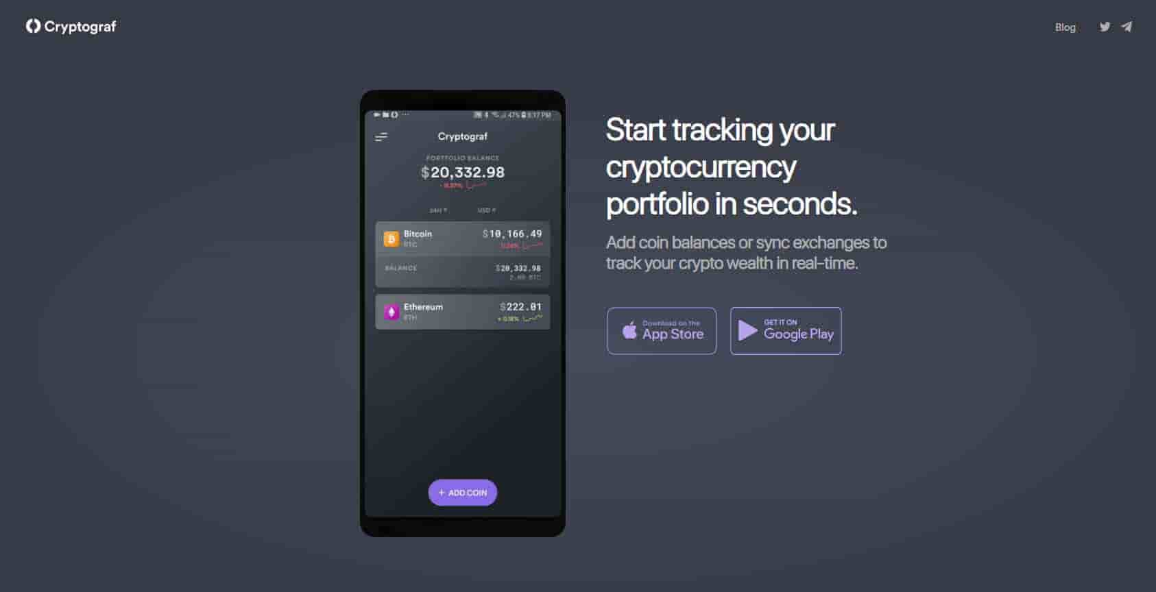 CryptoGraf cryptocurrency tracking
