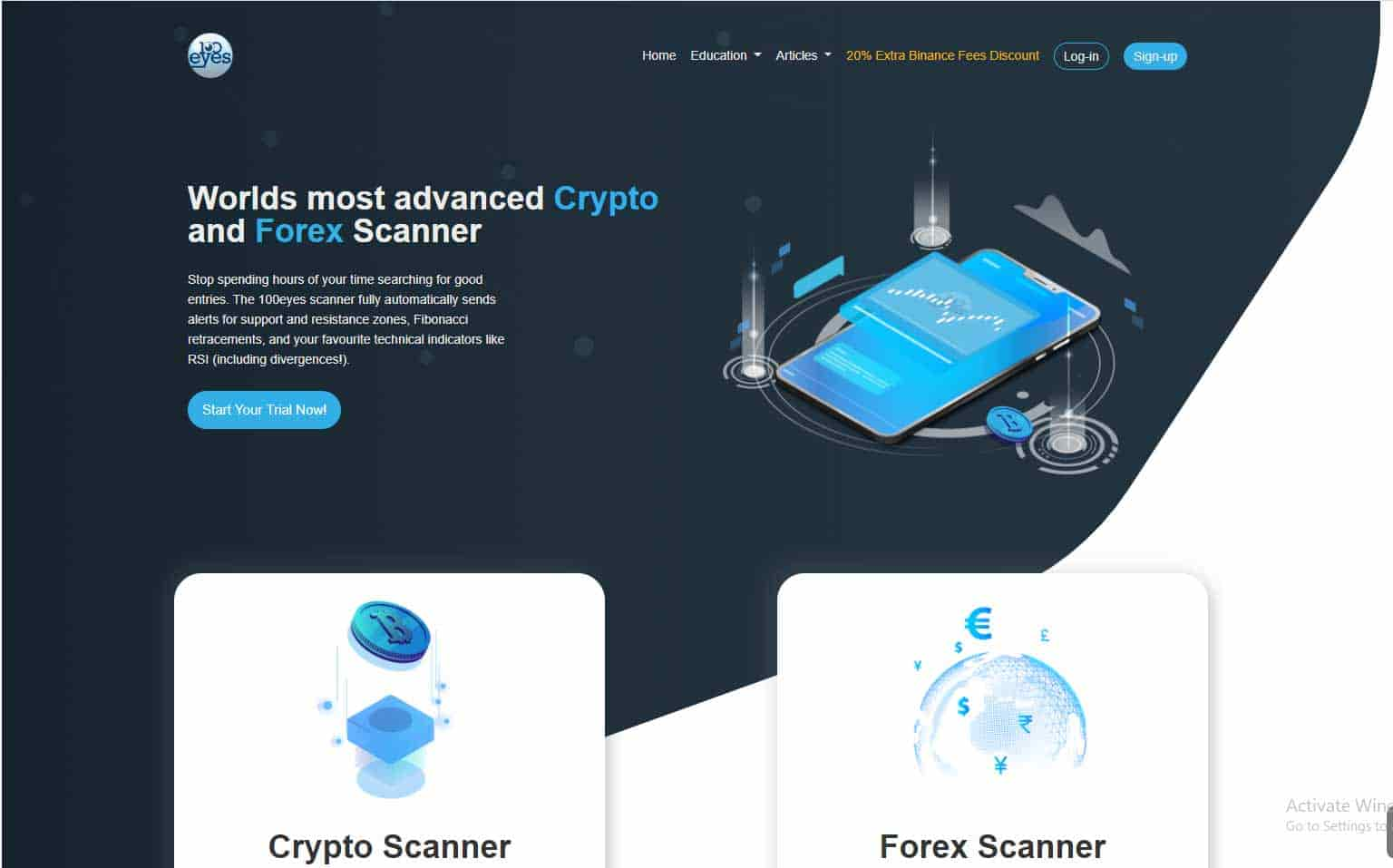 crypto and forex scanner