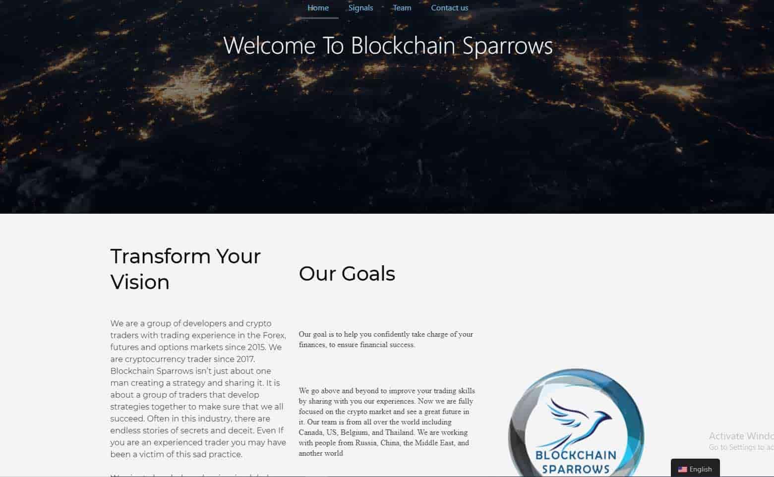blockchain sparrows signals